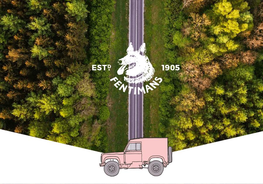 Fentimans відправив рожевий джип у подорож Великою Британією. Так рекламують новий тонік