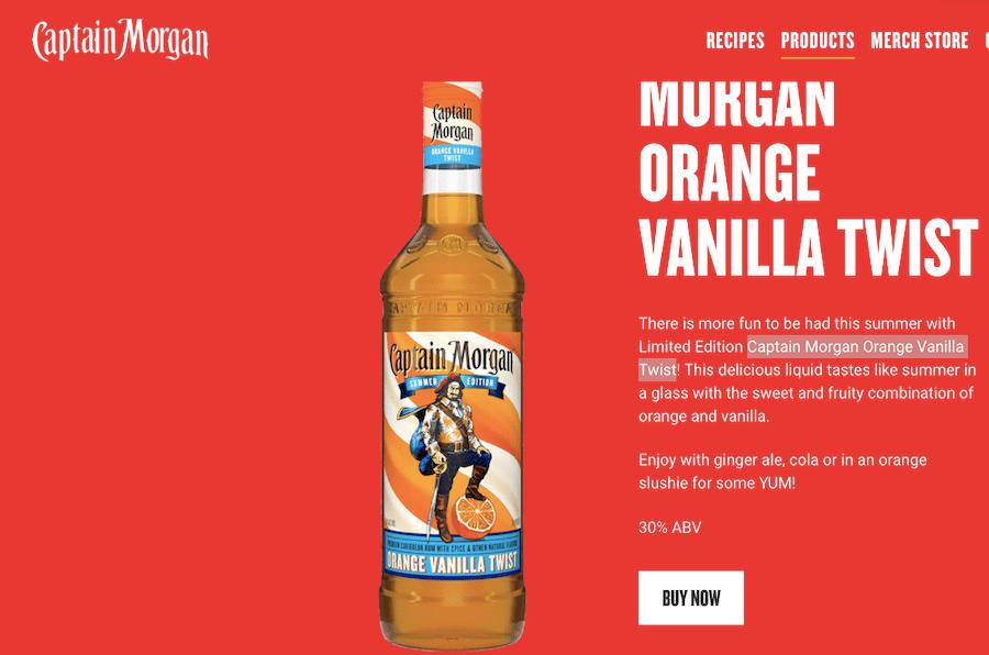 Captain Morgan випустили ром із апельсином та ваніллю