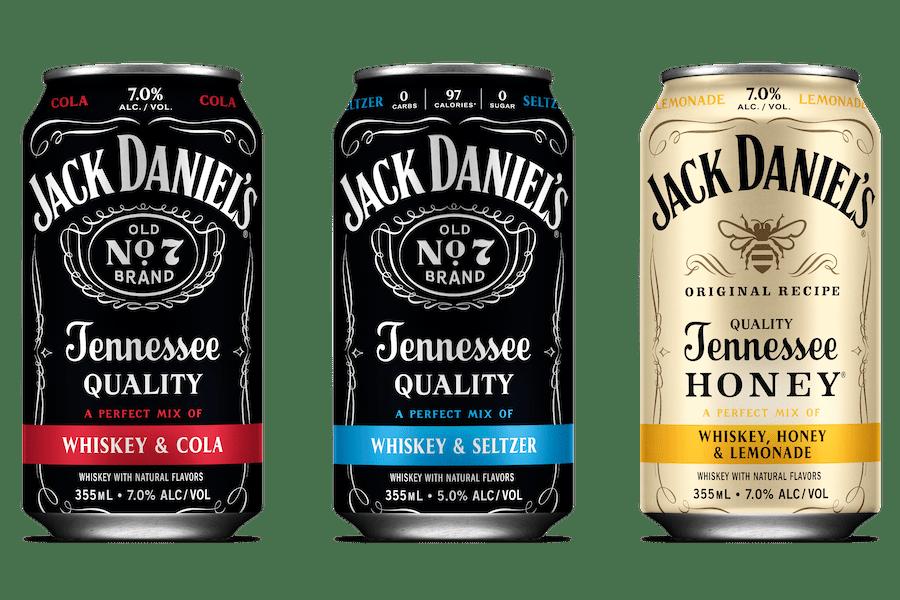 Jack Daniel's випустив три готові коктейлі: з колою і лимонадом
